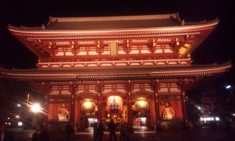 ライトアップ浅草寺