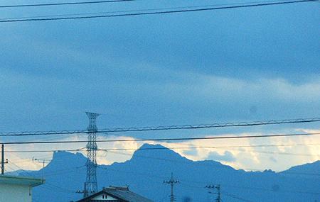 夕暮れ 妙義山