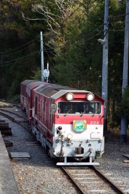 大井川t鐵道井川線奥泉駅402レ発車