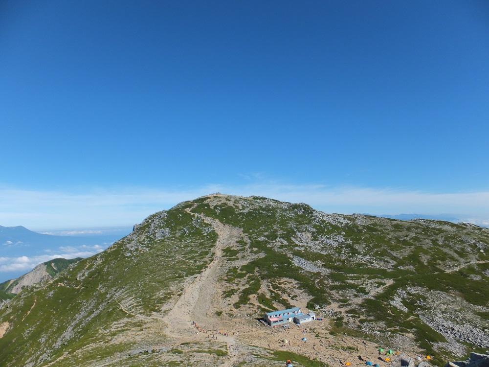 駒ケ岳とテン場