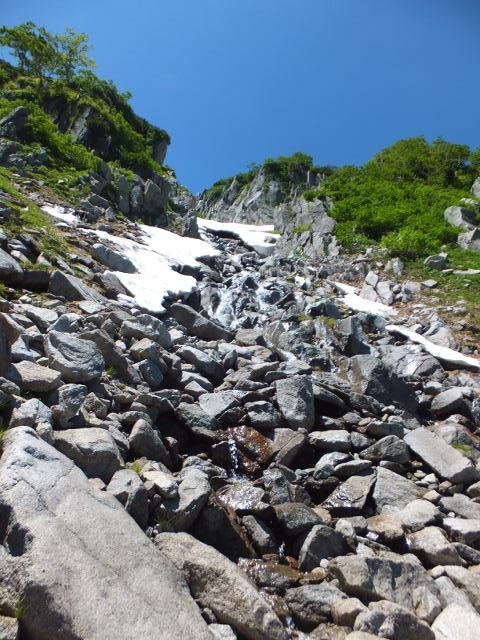 雪渓の名残