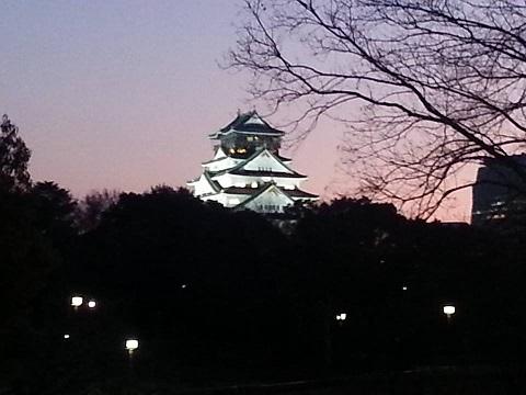 大阪城(夕方)