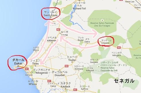 セネガル国内地図1
