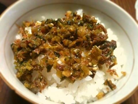 2012年4月28日 カブの葉とおかかの炒り煮かけごはん