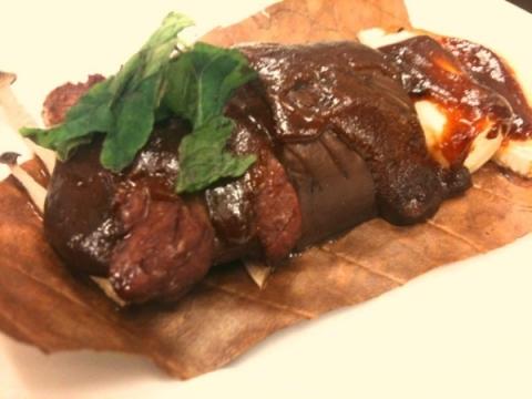 2012年6月26日 牛肉の朴葉焼き