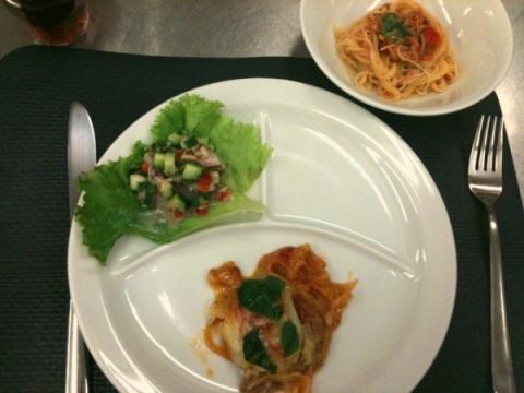 2012年7月24日 豚肉のピッツァイオーラ、セビーチェ(マリネ)、冷製カッペリーニ