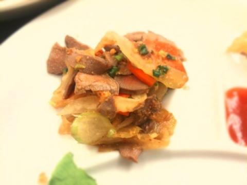 2012年11月20日 鶏砂肝の香味和え、