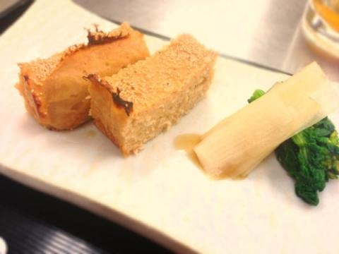 2013年3月26日 鶏の松風焼き・ウドと菜の花のポン酢和え