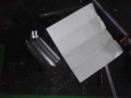 牛乳パックで型紙作成