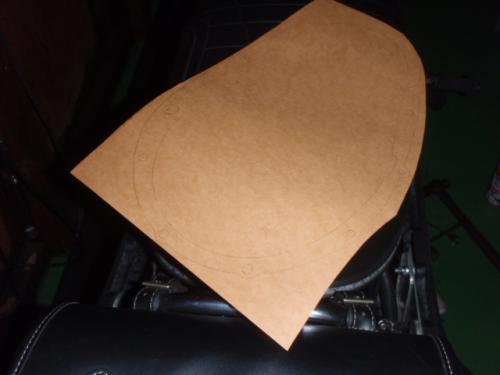 プライマリーチェーンケースのパッキン原型