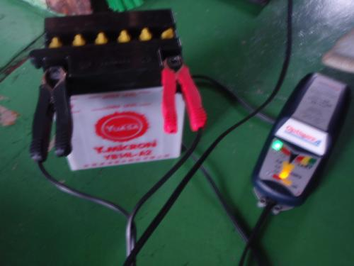 耕運機用バッテリー充電