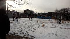 ドカ雪の日 母2