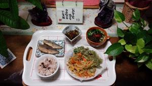 晩御飯 天ぷら・アジ南蛮漬け