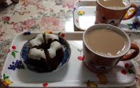ワンコと一緒にお茶タイム