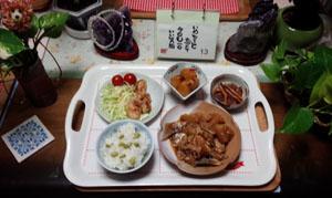 晩御飯 煮付け・イカ大根・鶏