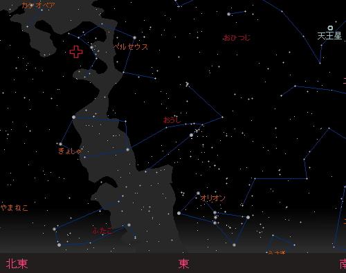 20150813 ペルセウス座流星群星図1 3時