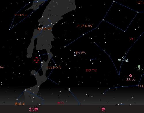 20150813 ペルセウス座流星群星図2 20時