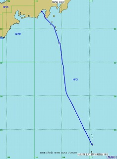 2014年航跡図 - 第1レグ