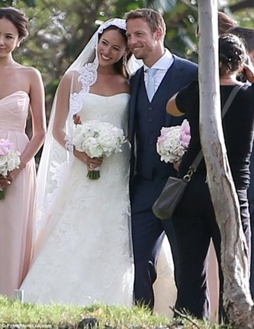 F1ジェンソン・バトンと道端ジェシカさん結婚9