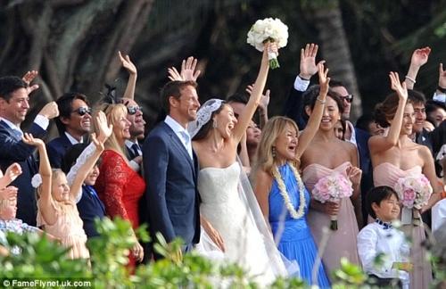 F1ジェンソン・バトンと道端ジェシカさん結婚11