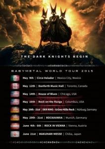 BABYMETAL、2度目となるワールドツアーを発表…メキシコ、アメリカ、ドイツ、オーストリア、他