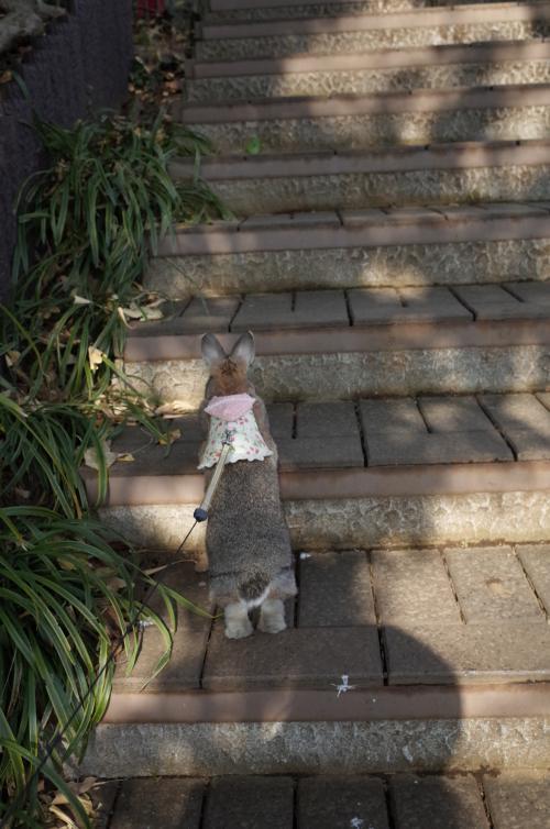 階段上るの大好き♪