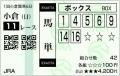 2015 小倉大賞典 馬単