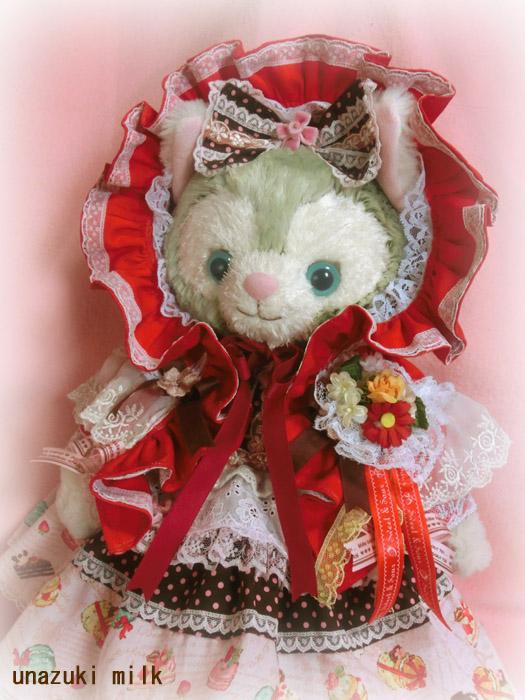 赤頭巾ジェラ子チョコレートワンピUP