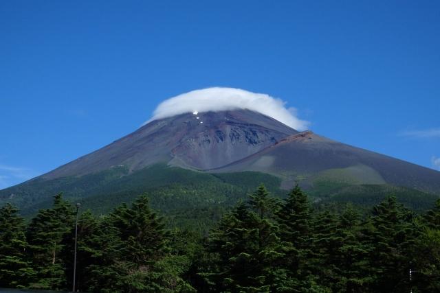 富士山と宝永火口