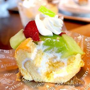 メロンのケーキ02@お菓子の森 サフラン 2015年08月