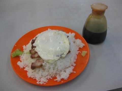 叉焼煎旦飯