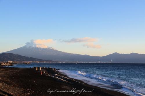 三保から富士山
