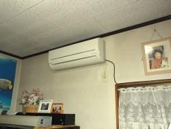 ダイニングのエアコンの点検・清掃~エディオンさん20150122