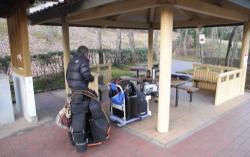 鏡山公園でアコーディオン20141227