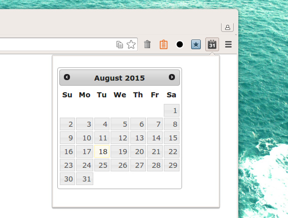 Date picker extension Chrome拡張 カレンダー 日付 コピー