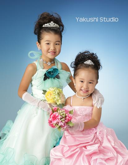 20150806三歳七歳姉妹ドレス