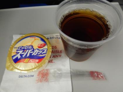 シンガポール2014.11デルタ航空シンガポール行・機内食