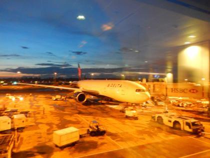 シンガポール2014.11チャンギエアポート・デルタ航空