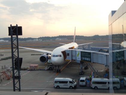 シンガポール2014.11成田空港・デルタ航空