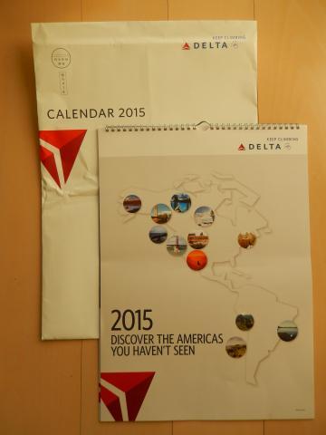 2015デルタ航空カレンダー