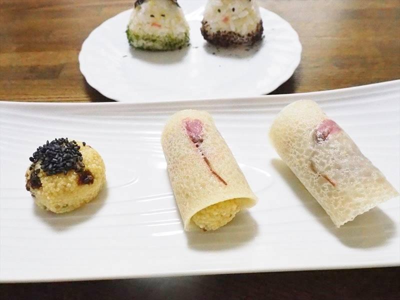 桜餅&アワ饅頭、おにぎり雛