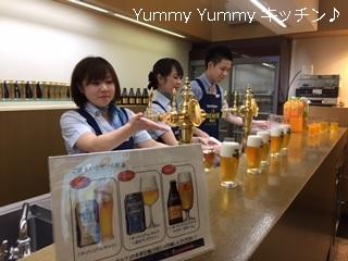 レシピブログ サントリービール工場 ビール試飲コーナー