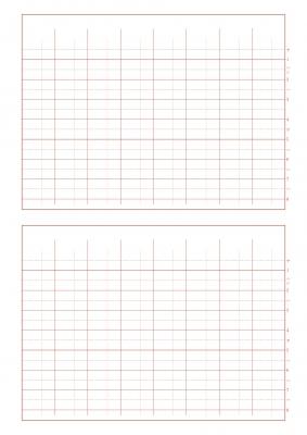 八割用紙バーントオレンジ笛8列2段-2