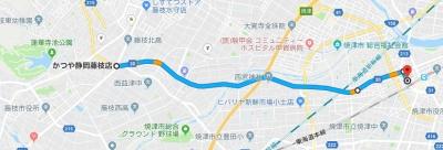 藤枝焼津人車軌道地図4.6km