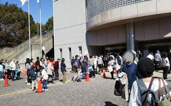 10/21 会場入り口付近