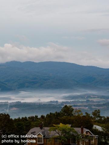 ニセコの朝霧