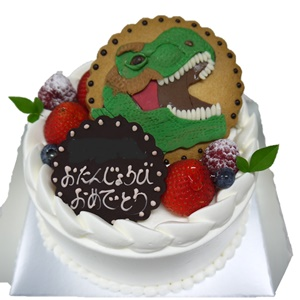 恐竜のバースデーケーキ