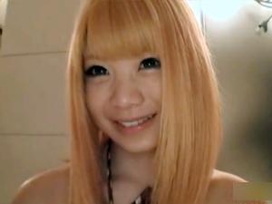【波瑠宮そら】金髪美少女が開いたマンコに電マを押し当てられアナルにまでマン汁垂らしてイッてます!