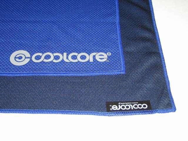 クールコアタオル ブルー COOLCORE SUPER COOLING TOWEL Color Blue クールコアタオル 生地表面(青、ブルー)と生地裏面(黒、ブラック)
