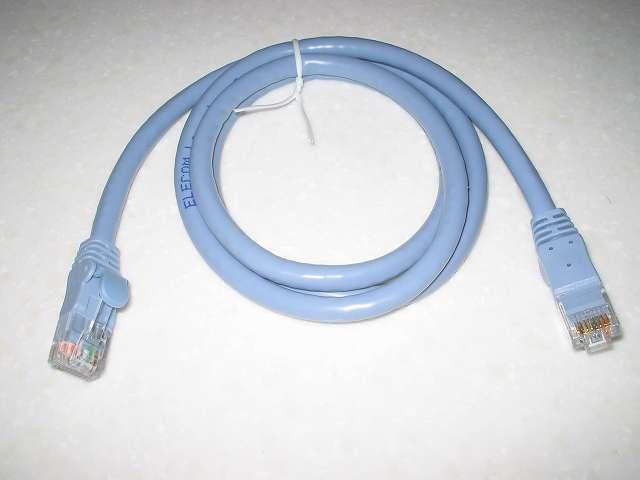 ELECOM CAT6A対応 LD-GPA/BU1 LANケーブル本体パッケージから取り出し